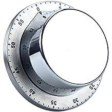 Reloj, temporizador de cocina mecánica, magnético de nuevo temporizador corto, cocina a corto plazo reloj despertador negro