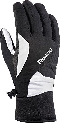 Roeckl guanti da sci da donna, nero/bianco