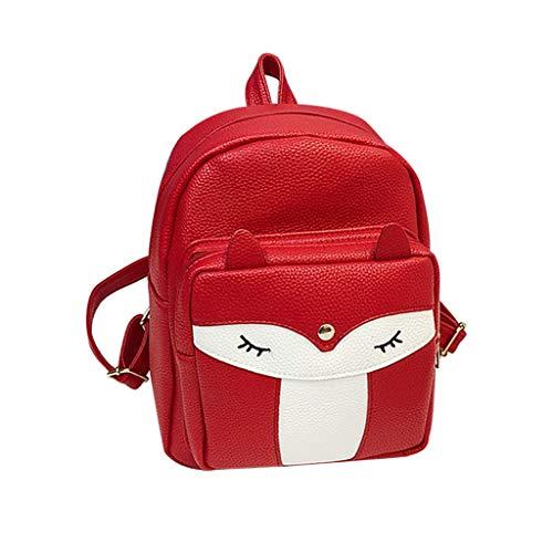 catyrre Frauen Mädchen Mini Fox Rucksack Rucksack Schule Tasche Tasche Daypack