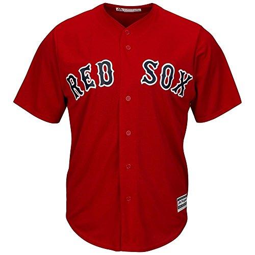 Majestic Boston Red Sox Cool Base MLB Trikot Alternate Rot (M) (Jersey Baseball Majestic)