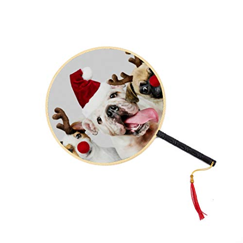 Hunde Kostüm Tragen Weihnachten - Hund tragen Weihnachten Kostüme chinesischen Alten Fan klassischen Palast Paddel Fan Tanz Fan Hand Fan Spielzeug chinesischen großen Fan Womens Hand Fans chinesischen Fan Männer