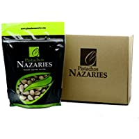 Pistachos Nazaríes - Pistachos Españoles de gran calidad, cuidadosamente seleccionados y tostados, crujientes y en su punto de sal. (Pack de 2 bolsas de 250gr cada una).