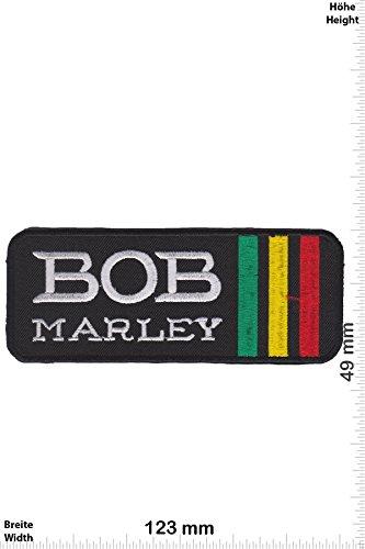 Patch - Bob Marley - Rasta - Reggae - Musicpatch - Rock - Vest - Patches - Aufnäher Embleme Bügelbild Aufbügler (Marley Farbe Bob Rasta)