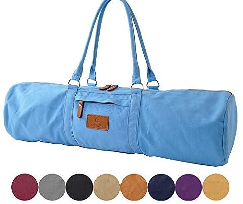Yogatasche »Damayanti« von #DoYourYoga aus Segeltuch gefertigt, aufwendig verarbeitet, die Tasche ist für Yogamatten- und Pilatesmatten bis zu einer Größe von 186 x 60 x 0,5 cm, die Yogatrageschae (Yogabag) ist in 9 ausgefallenen Farben erhältlich Sandfarben