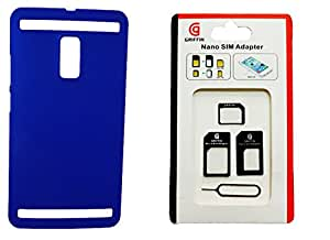 Toppings Hard Case Cover With Sim Adapter For Vivo Xplay 3s - Blue