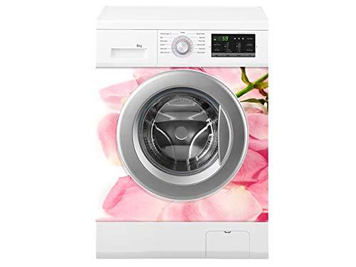 Oedim Waschmaschine Rosen Blätter | Verschiedene Maße 70 x 70 cm | Beständiger und leicht aufzutragender Klebstoff | Eleganter Entwurfs-dekorativer klebender Aufkleber -