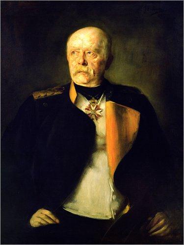 Poster 60 x 80 cm: Otto von Bismarck, c.1890 von Franz von Lenbach/Bridgeman Images - hochwertiger Kunstdruck, neues Kunstposter