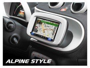 Alpine KIT-W997SMTW Einbauset schwarz(Smart Fortwo / Forfour - Touchscreen Car Kit Radio