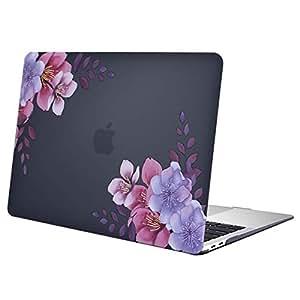 MOSISO H/ülle Kompatibel mit MacBook Air 13 2019 2018 Freisetzung A1932 Retina Schwarz Marmor Plastik Hartschale Case mit Muster Nur Kompatibel mit Neu MacBook Air 13 Zoll mit Touch ID