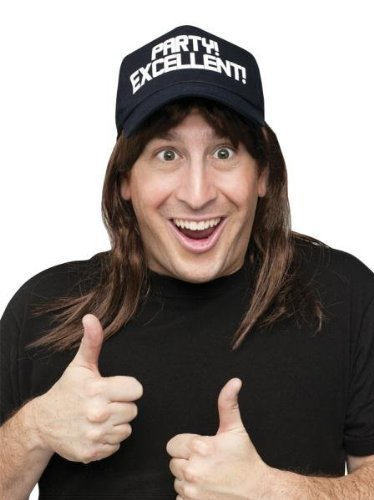 Snl Wayne Excellent Wig/hat
