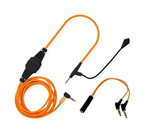 Universelles Boom-Mikrofon-Volumen-Ersatzkabel von Lovinstar, für Bose QC25,QC35,AE2,OE2i auf Gaming-Kopfhörer, für Skype, PS4,Xbox One. PC, Laptop, Telefon, 2,5mm auf 3,5mm Orange Mod-telefon