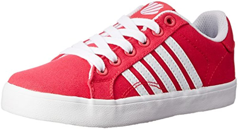 K Swiss Belmont Textile PS Tennis Shoe Little Kid Raspberry/White 12 M US Little Kid