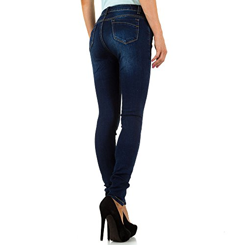 iTaL-dESiGn - Jeans - Skinny - Femme bleu foncé