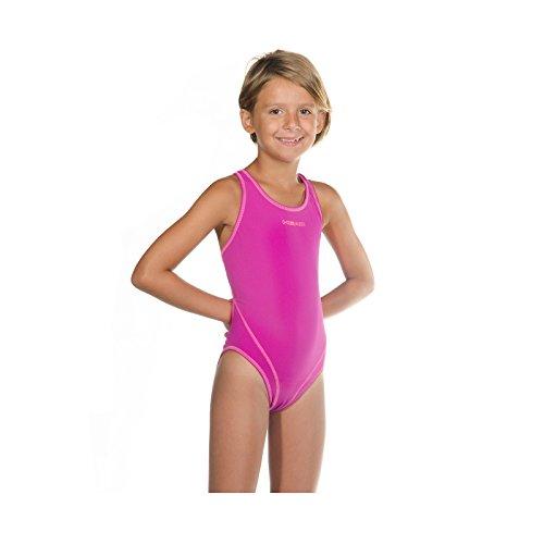 HEAD SWS Wire PBT Mädchen Badeanzug, Rosa (MG), 116 (Herstellergröße: 6)