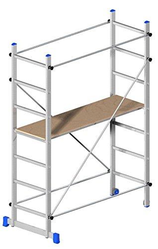 Superminio Gerüst, fahrbar, Aluminium, Höhe 2,18 m der Arbeitsfläche
