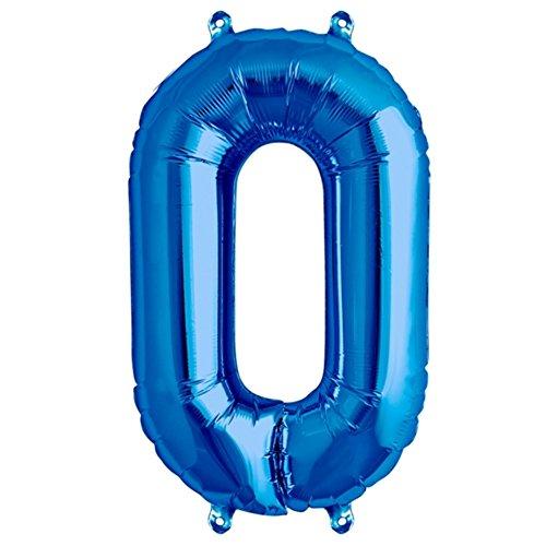 Zahl 0 in Blau - XXL 40