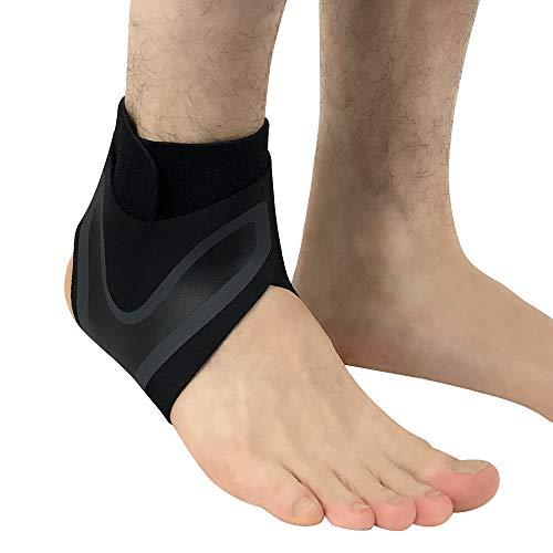 WXQQ SportknöchelunterstützungPlantarfasziitis Kompressionsmanschette für Männer & Frauen - Beste Schmerzlinderung,Fersenschiene - Knöchelmanschette - Fördert DurchblutungRight Foot Black
