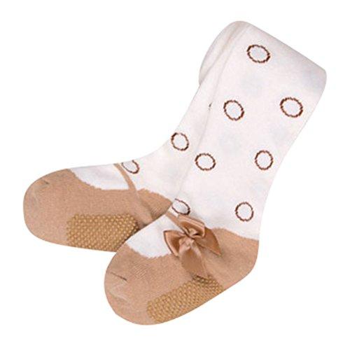 Baby Strumpfhosen, Meedot Kinder Baumwollmädchen Panty Schlauch Volle Knöchel Legging Strümpfe Khaki S/0-12 Months (Knöchel-schlauch)