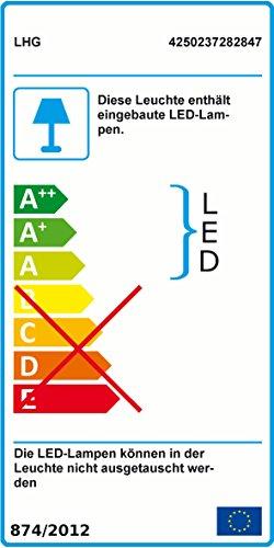Deckenfluter LED mit RGBW Farbwechsel | Stehleuchte inkl. Fernbedienung | Stehlampe + Leselampe | Fluter mit 1x LED-Board 4W 350lm 3000K | Leuchte dimmbar | inkl. 1x Gratis