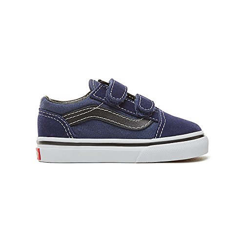 Vans Old Skool V Youth -Fall 2018-(VN0A344KU3Y1) - Medieval Blue/Black - 8C