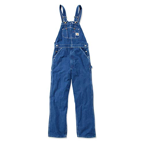 Carhartt R07 Washed Denim Overall - Arbeitsoverall, Darkstone, 32W / 32L