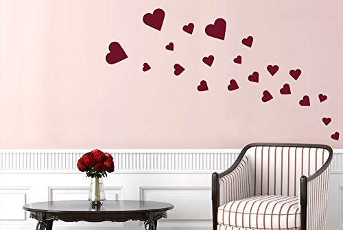 hearts-wall-stickers-and-art-decals-black