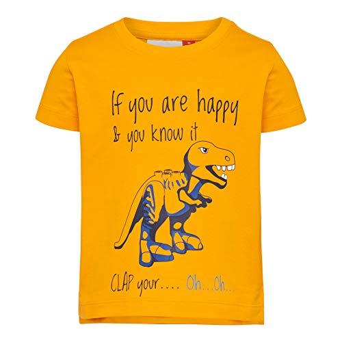 Lego Wear Baby-Jungen LWTERRENCE 652-T-SHIRT S/S T-Shirt, Gelb (Light Orange 275), (Herstellergröße: 104)