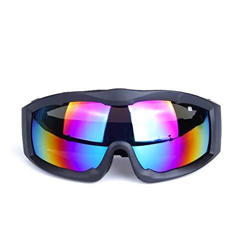 FXXUK Motorrad-Reitbrille Adult Scooter Motocross Radfahren Racing Aviator Goggles Anticrash Mirrored Lenses,1