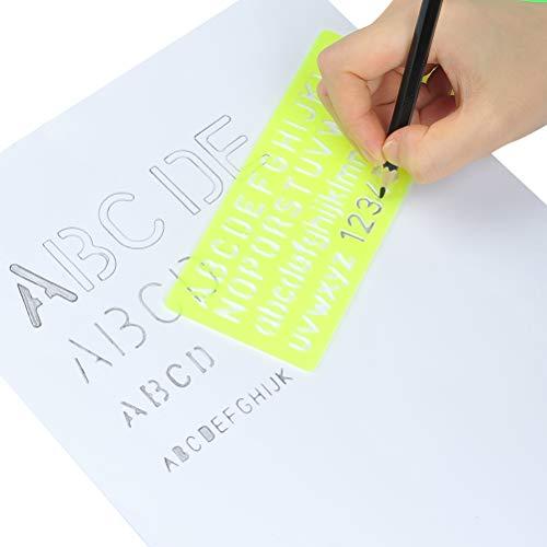 09374c97de YOTINO Stencil Lettere 4 Pezzi Normografo Stencil di Alfabeto per Scrivere  Disegno e DIY per Bambini e Studenti, Regalo