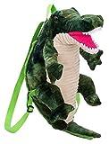 Cloud Kids 3D Rucksack Dinosaurier Plüsch Kinder Rucksack Schultertaschen Schulrucksack 23x17x40cm Grünes Krokodil