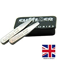 40 Piece Metal Collar Stiffeners Set   Cuffs & Co (63x9mm Standard Collar) British Made