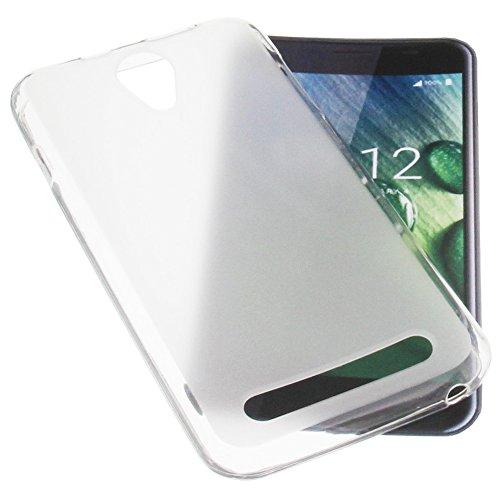 foto-kontor Tasche für Acer Liquid Z6 Gummi TPU Schutz Handytasche transparent weiß