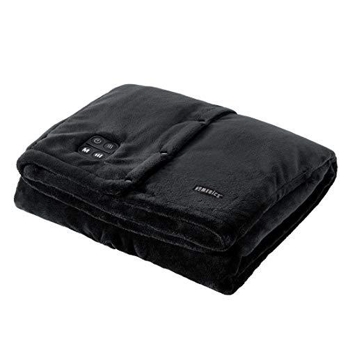 HoMedics Comfort große Heizdecke, Kabellose Heizdecke mit Vibrationsmassage
