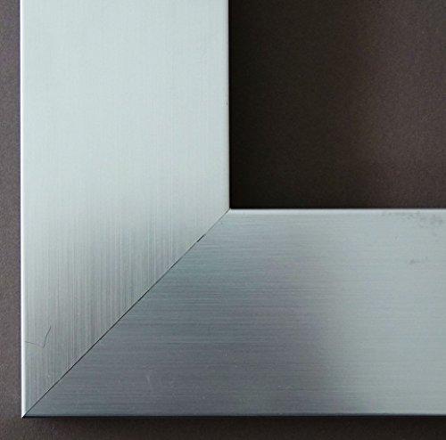 Spiegel Wandspiegel Badspiegel Flurspiegel Garderobenspiegel - Über 200 Größen - Novara Silber 7,0 - Außenmaß des Spiegels 60 x 80 - Wunschmaße auf Anfrage - Modern