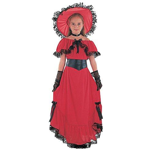 Bristol novelty, costume da Rossella O' Hara, per bambine, economico, (L), età 7–9anni