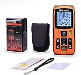 HYLH Medidor de Distancia láser Digital Rangefinder Medidor de Distancia láser Alimentado por batería de Cinta con función de Silencio Pantalla LCD Grande, Distancia de medición, área y Volumen,120m