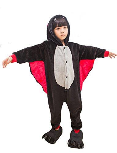 Tonwhar Damen Strampelanzug Mehrfarbig (Halloween Kostüm Bat Kid)