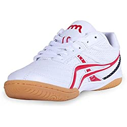 Mr. LQ - Bádminton profesional / tenis / zapatillas de tenis de mesa , white red , 41