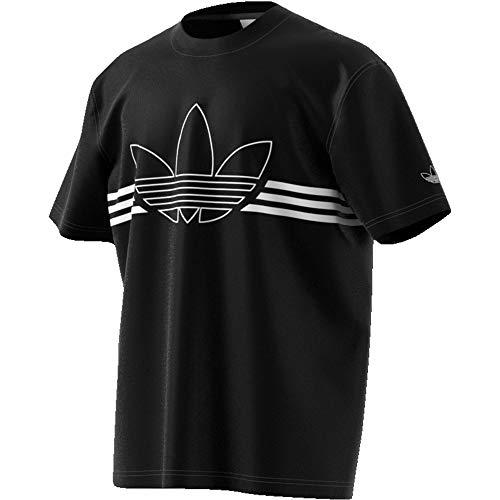 adidas Outline Trefoil Tee, T-Shirts Uomo, Black, M