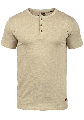 !Solid Sigos Herren T-Shirt Kurzarm Shirt Mit Grandad-Ausschnitt Aus 100{9d4d6a144e63ec931770aa4379c05b729c9a12e2414569aca9745b33cf77180e} Baumwolle, Größe:L, Farbe:Sand (4073)