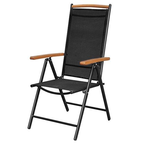 Festnight 7-tlg. Sitzgruppe Sitzgarnitur Gartenmöbel Set aus Aluminium 1 Tisch 190×90 + 6 Stühle 54×73