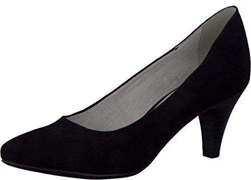 Tamaris Schuhe 1-1-22475-28 bequeme Damen Pumps, Sommerschuhe für modebewusste Frau, schwarz (BLACK), EU 37