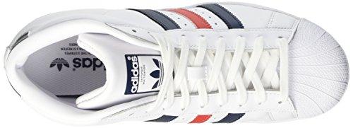 adidas Herren Promodel Hohe Schuhe mehrfarbig (Ftwwht/Conavy/Red)