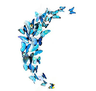 Domire 12 Pcs 3D Butterfly Stickers Making Stickers Wall Stickers Crafts Butterflies - inexpensive UK wall light store.