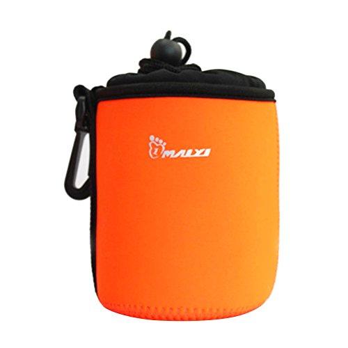 Pixnor Weiche Schutzkleidung Neopren Lens Pouch Tasche für Cannon Nikon Sony Olympus Kamera-Objektiv (Orange) - M