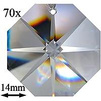 70x Regenbogenkristall Octagon Stern ~ Koppe 14mm 1 Loch Crystal K9 ~ Feng Shui Kronleuchter Lüster