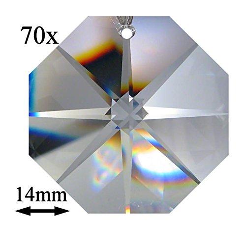 Octagon Lot de 70 Cristaux Arc-en-Ciel en Forme d'étoile 14 mm 1 Trou Crystal K9 ~ Feng Shui