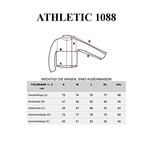 BOLF – Longsleeve – Sweat-shirt – U-neck – Pullover – Homme - ATHLETIC 1088 Noir
