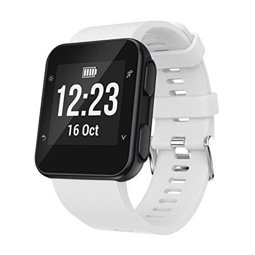 Clode® Für Garmin Armband Ersatz Armband Silicagel Soft Band Strap Ersatzarmband Uhrenarmband Für Garmin Forerunner 35 (Weiß)