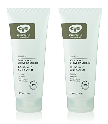 Green People Scent Free Shower & Bath Gel 200ml DUO